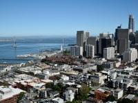 Blick auf San Francisco Skyline vom Coit Tower