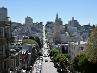 Steile Greenwich Street zum Coit Tower