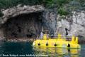 Touristenschiff Yellow Submarine vor Dubrovnik
