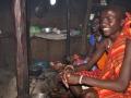 In einer Massai Hütte