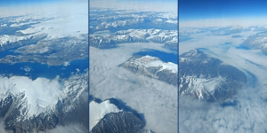 Flug über Grönland